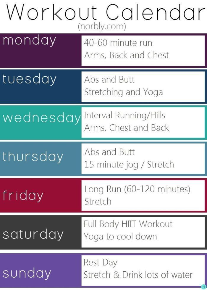 My New Weekly Workout Schedule | Exercise Routines, Exercises And