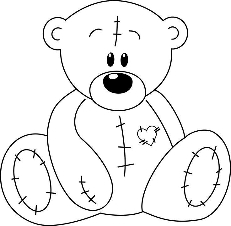 Надписью, картинка мишка для детей раскраска