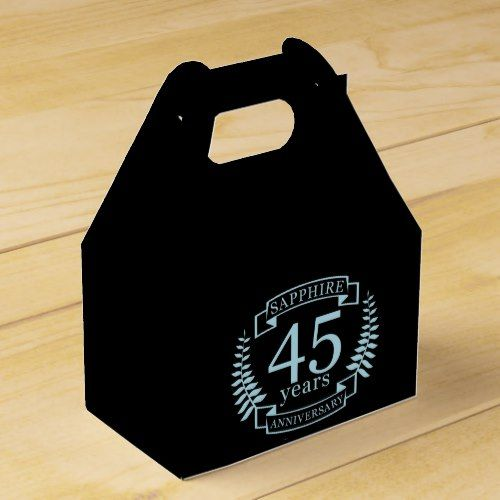 Traditional 17th Wedding Anniversary Gifts: Sapphire Traditional 45th Wedding Anniversary Favor Box