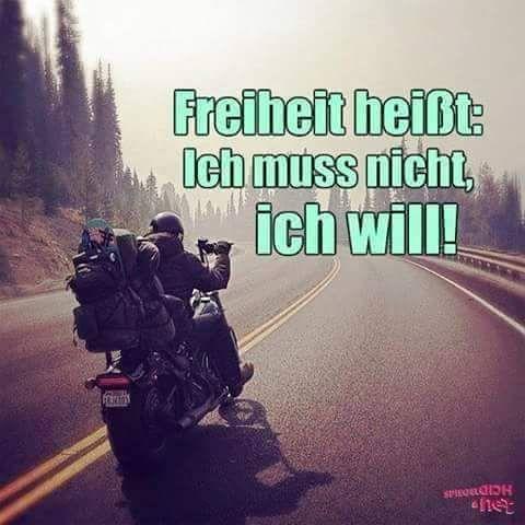 Freiheit heißt:!!!✌ | Sprüche | Motorrad sprüche, Sprüche