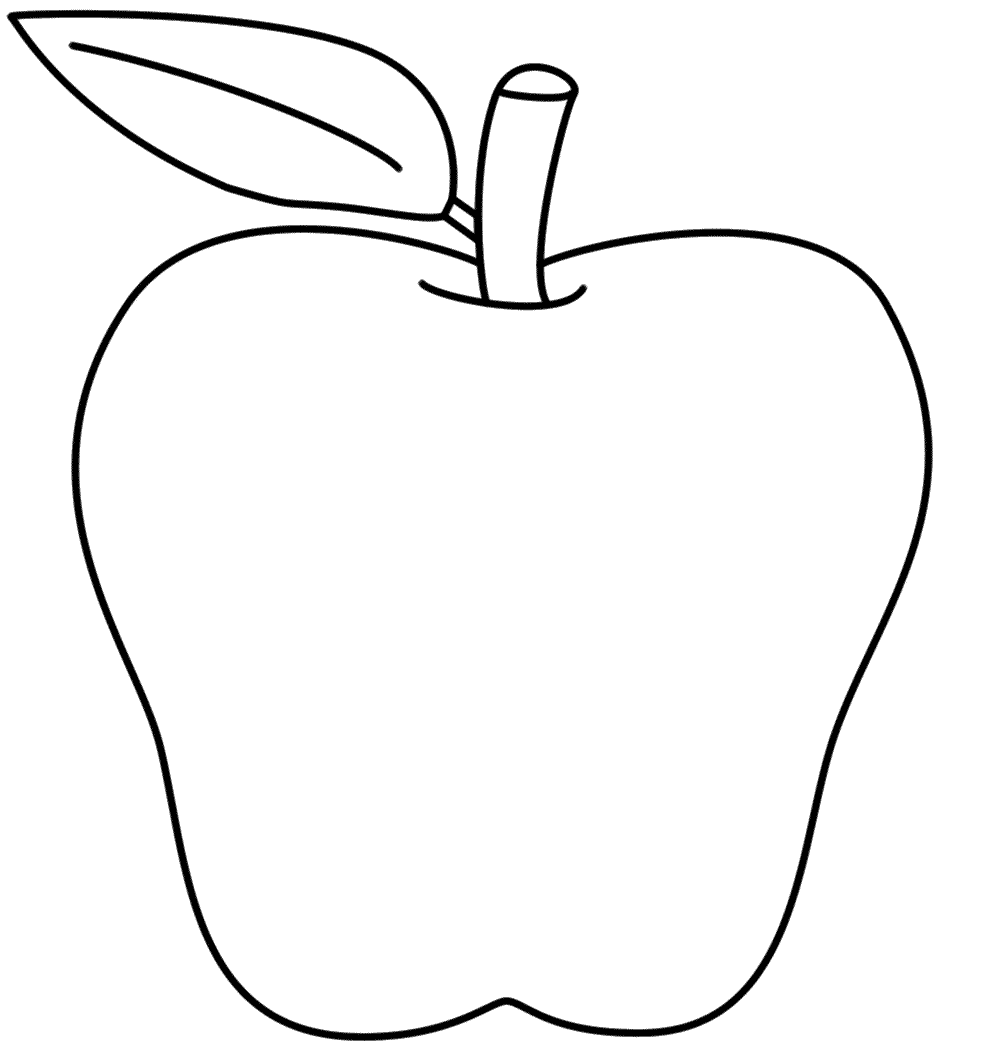 Coloring Pages Of Apple White : Apple coloring page back to school crafts for