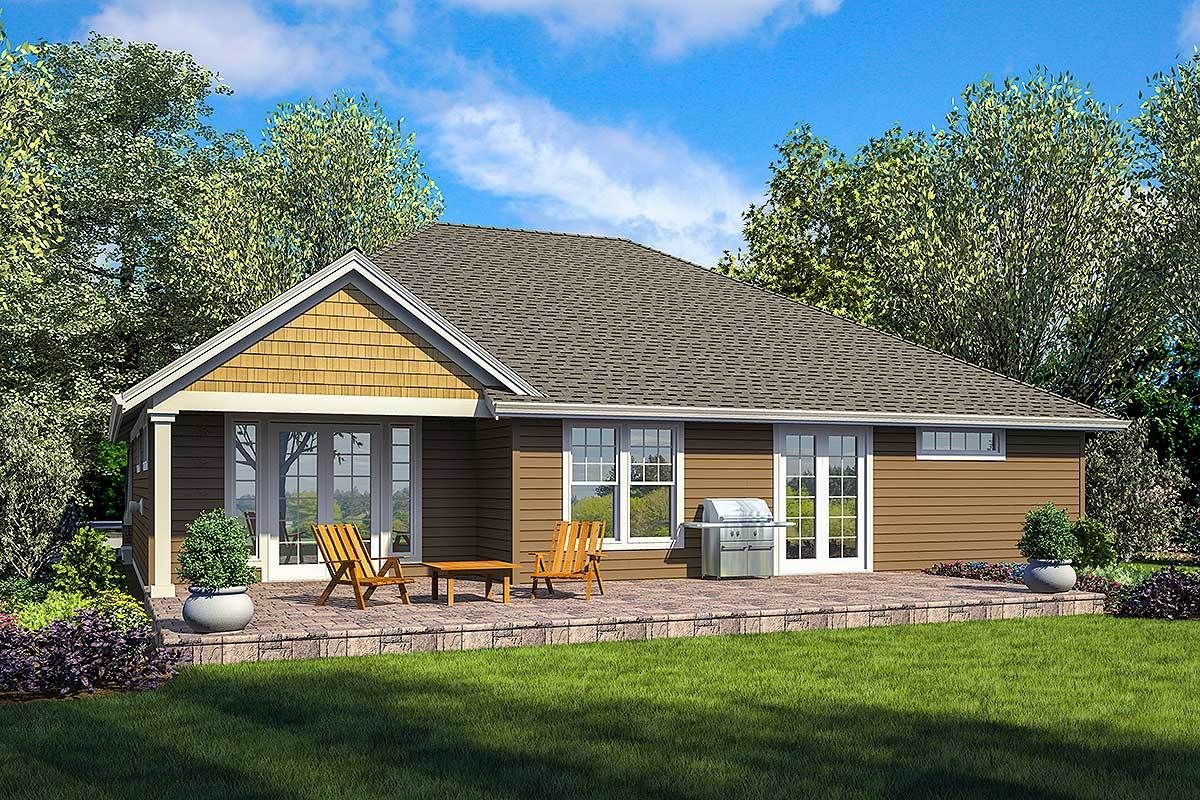 Plan 69691AM OneStory House Plan with Two Master Suites