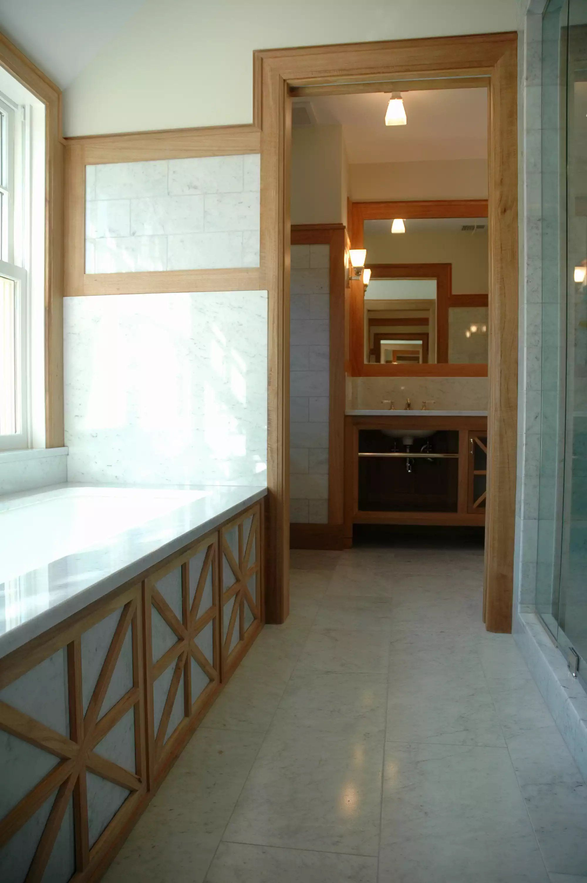 Stained Wood Trim in Bathroom, Detailing on Tub Base | Best of ...