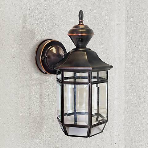 Antique Copper 13 1 2 Dusk To Dawn Motion Sensor Wall Light 35153 Lamps Plus Wall Lights Motion Sensor Lights Motion Sensor Lights Outdoor