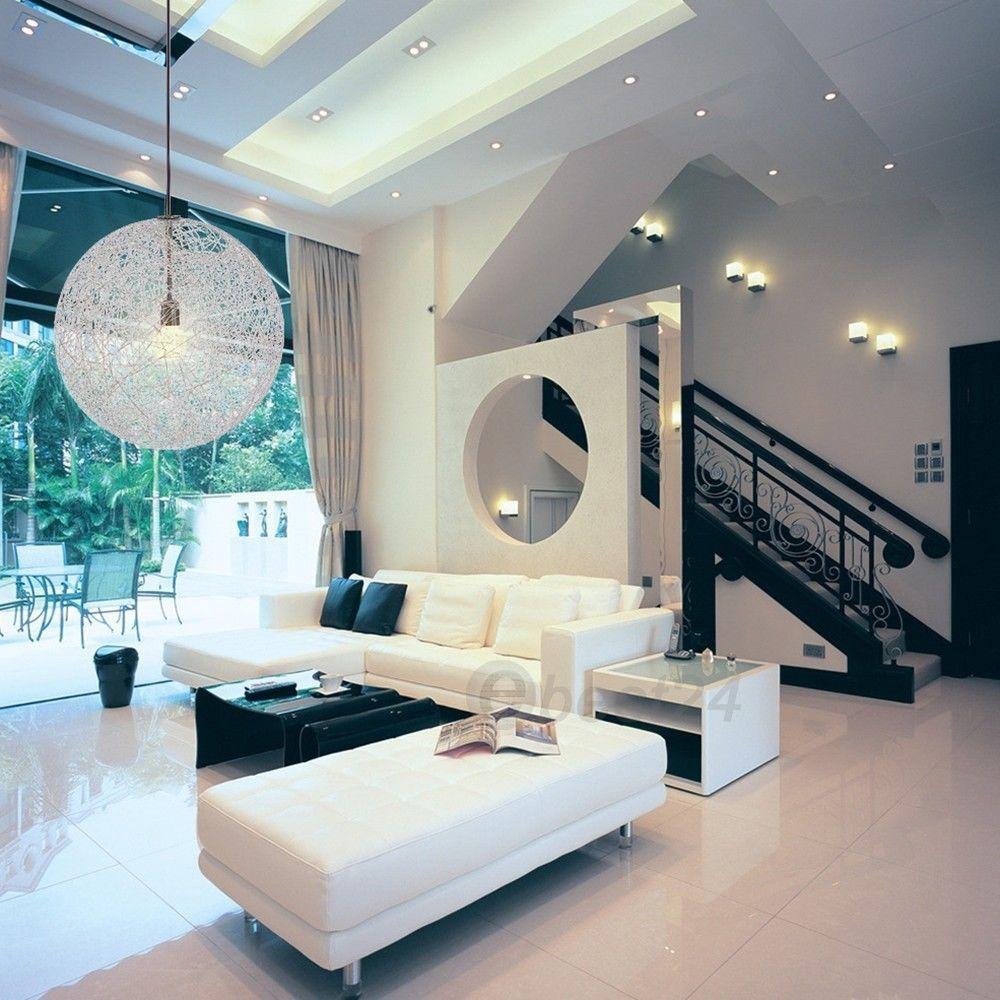 25 Living Room Lighting Ideas For Right Illumination: Random Rattan Ceiling Light Pendant Lamp Suspension