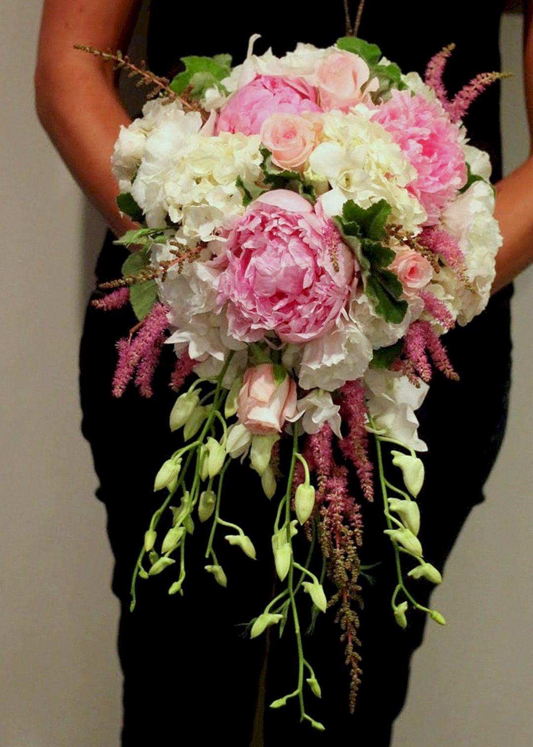 40+ DIY Beautiful Cascading Wedding Bouquet Ideas
