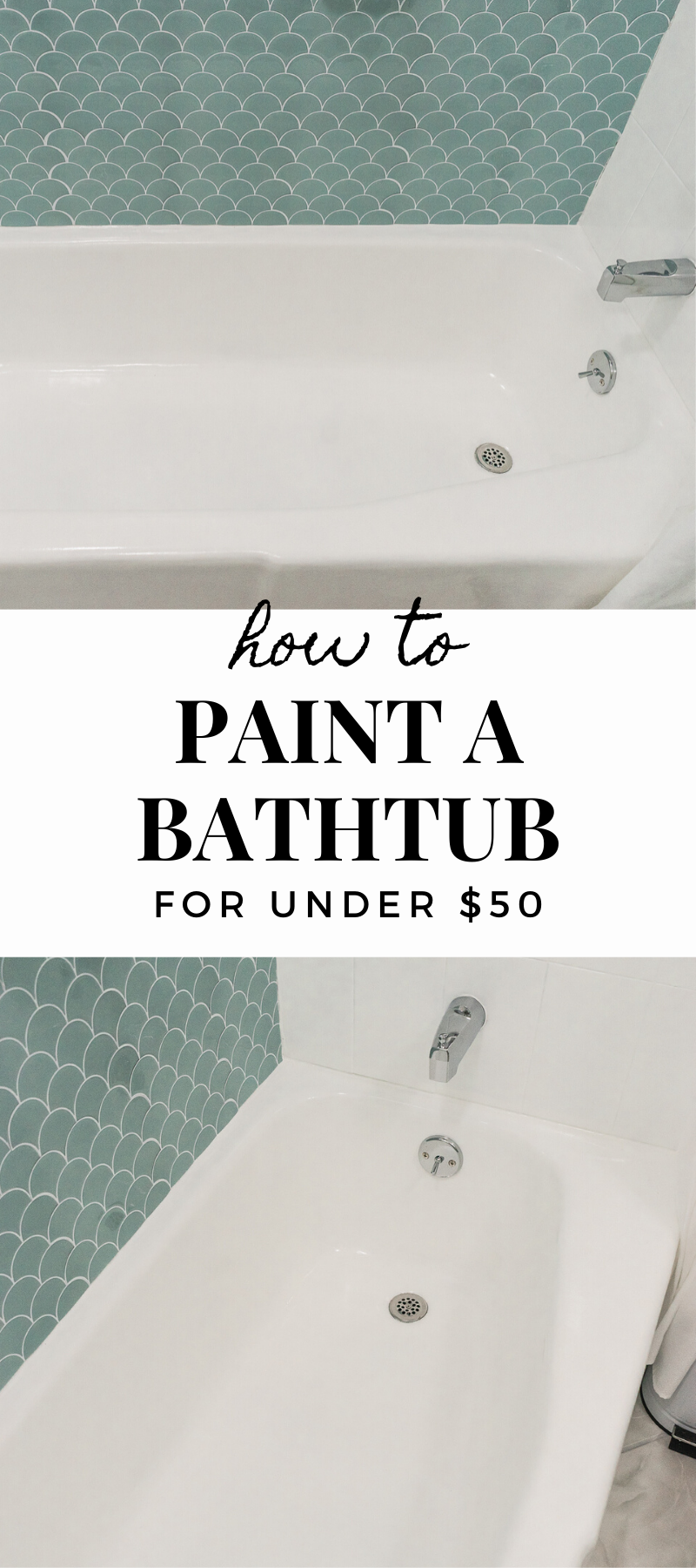 How To Paint A Bathtub And Shower For 50 Diy Tile Shower