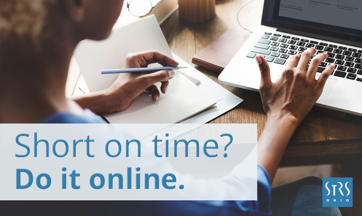 short on time access you strs ohio account information online today