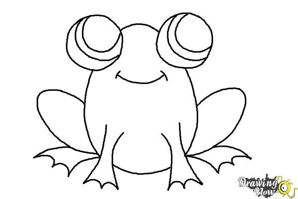 How To Draw A Simple Frog Step 8 Rock Painting Pinterest