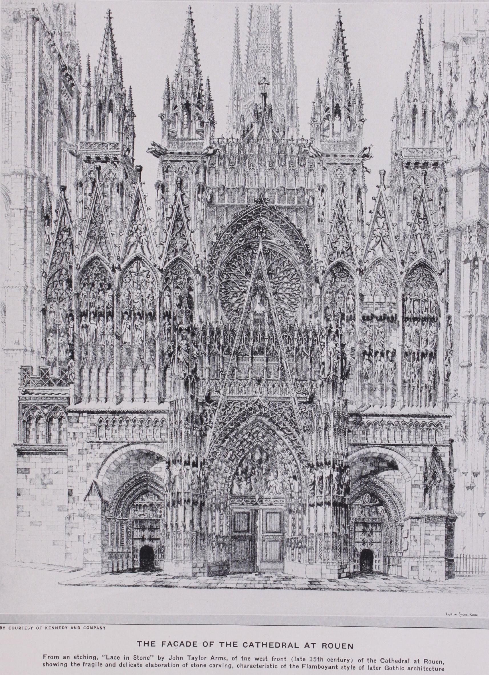 The Parts Of A Gothic Cathedral Graphic History Of Architecture By