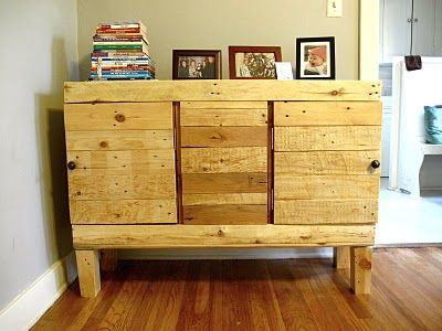 Credenza Con Pallet : Diy pallet credenza i want to do this my home!