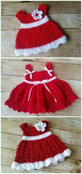 Crochet Red Baby Dresses Free Patterns Crochet Girls Dress Free