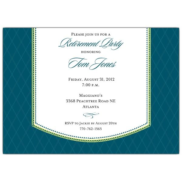 Band Retirement Dinner Blue Invitations More great Invites - dinner party invitation sample