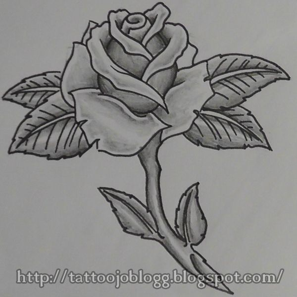 0c027b9da how to draw a simple rose, tattoo style step by step tutorial ...