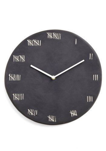 Could be an interesting DIY project!     Chalk at Length Clock, #ModCloth