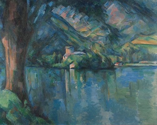 le lac d 39 annecy par paul c zanne cezanne paul pinterest peinture vacances montagne et. Black Bedroom Furniture Sets. Home Design Ideas
