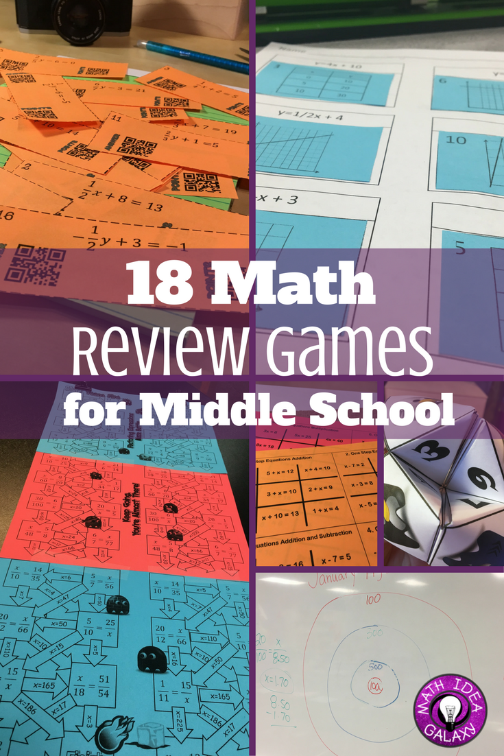 18 Math Review Games for Middle School | Math test, Math and School