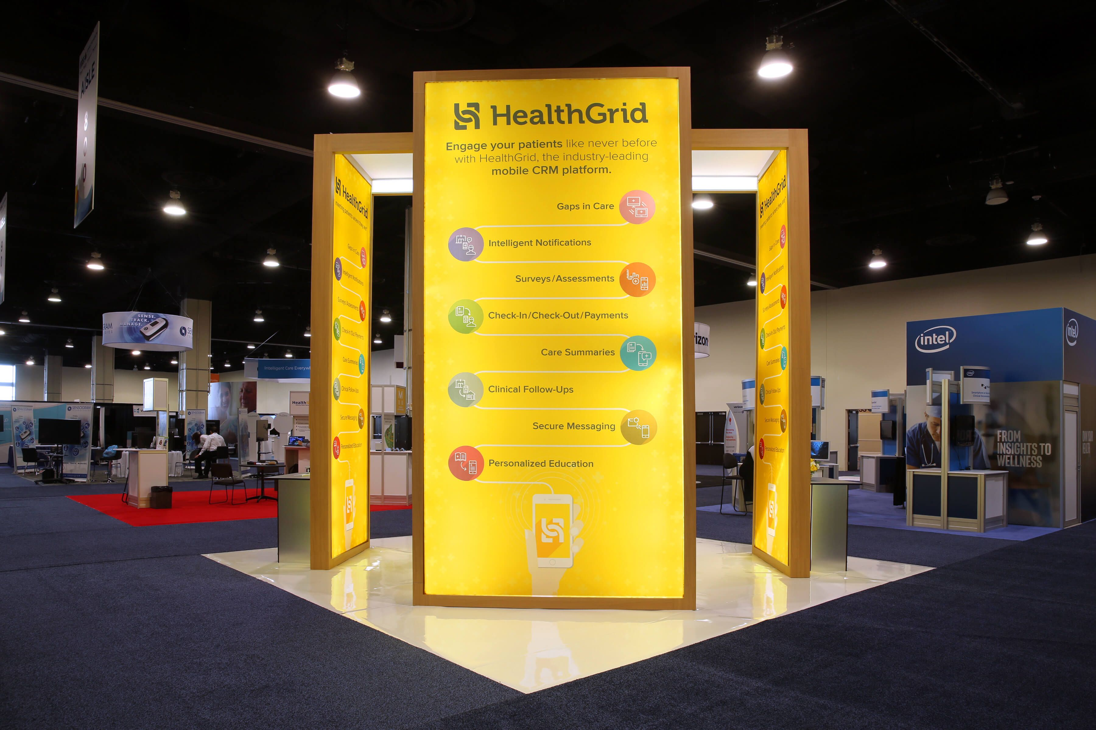 Modular Exhibition Stands Out : Custom trade show display for healthgrid booth