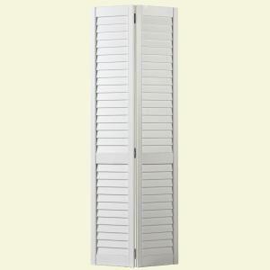 Pine Primed White Full Louver Bi Fold Door Home Yard
