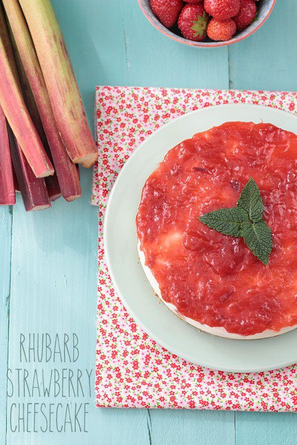 Raquel's Kitchen: Cheesecake de Ruibarbo y Fresas
