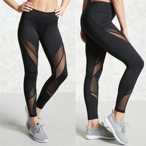 963fc9f9ca894 Black Fashion Mesh Exercise Leggings-Social Ads Atlanta | Leggings ...