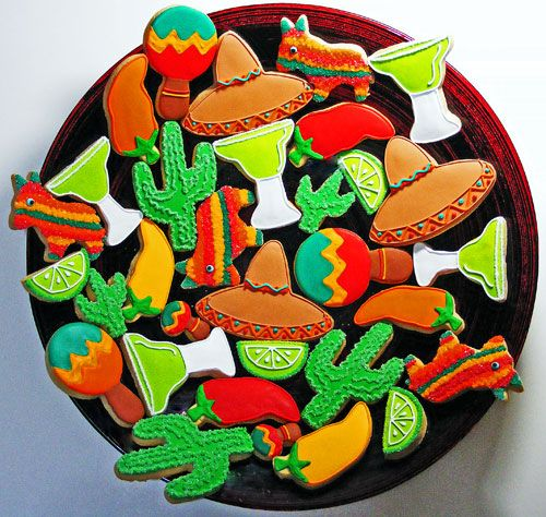 5 de mayo decorated cookies - Google Search