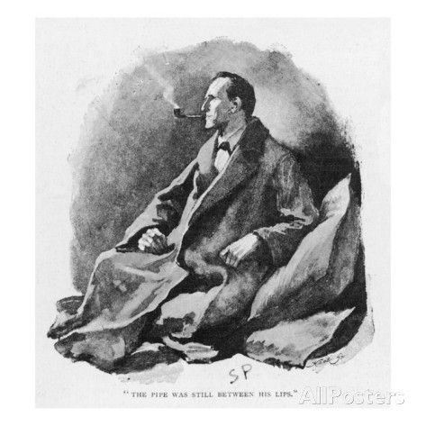 The Man with the Twisted Lip Holmes Ponders the Problem Giclee Print