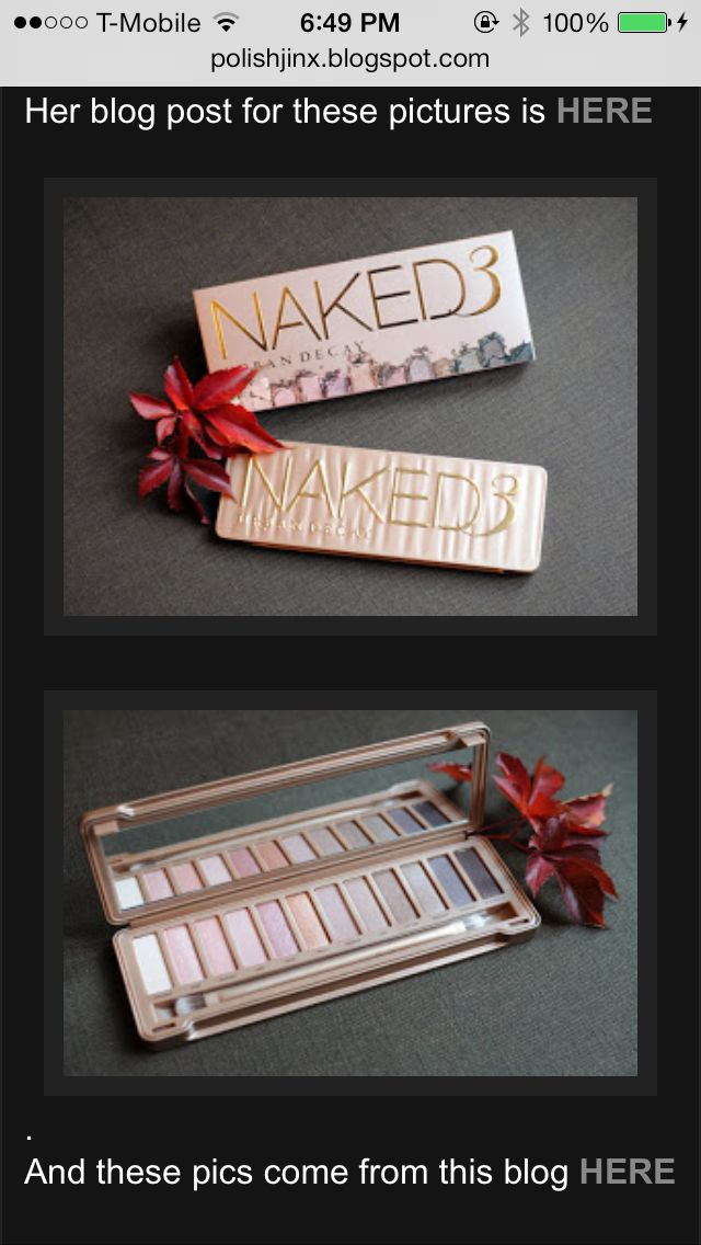 NAKED 3 Palette: Rosy Nuetrals <3
