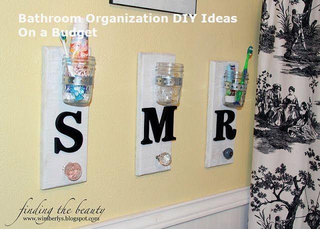 Great Bathroom Storage Solutions and Organization Ideas #DIY #bathroom