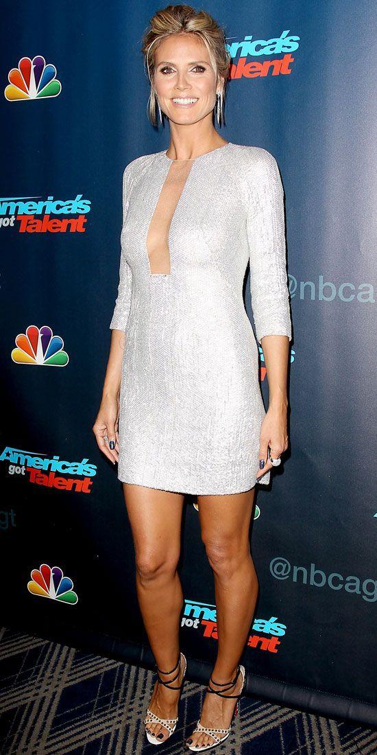 08/22/13: At the Americas Got Talent post-show, Heidi Klum ...