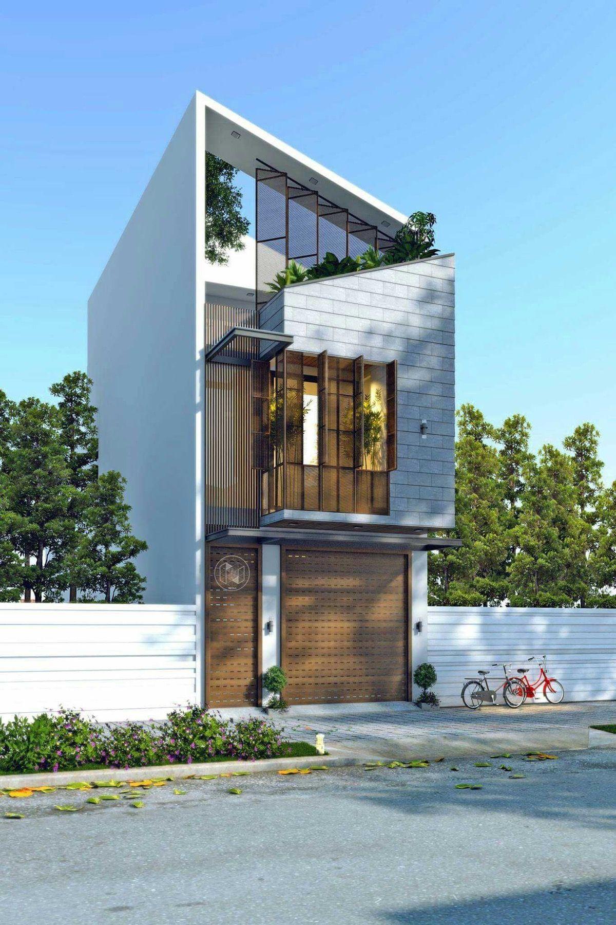 Home Design Ideas Elevation: 50 Narrow Lot Houses That Transform A Skinny Exterior Into