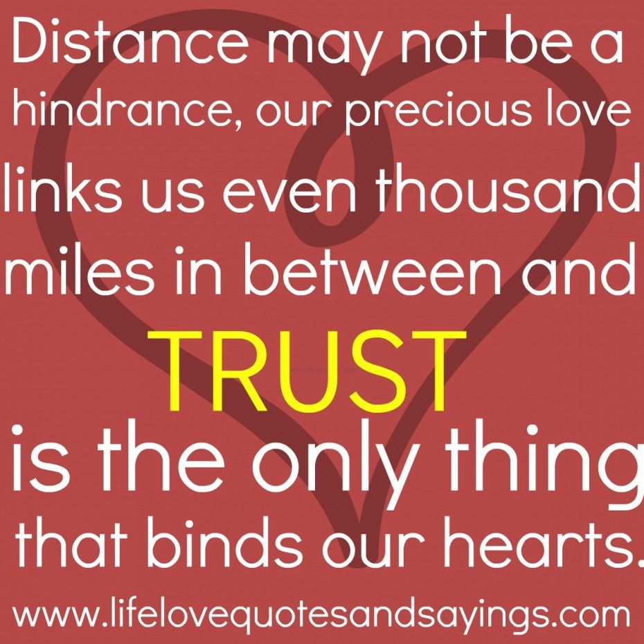 Trust is the only thing that binds our hearts Cute Love QuotesLove