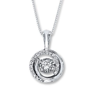 Diamonds In Rhythm 1 3 Ct Tw Necklace 10k White Gold Diamond Pendant Jewelry Round Diamond Earrings Diamond Jewelry Necklace