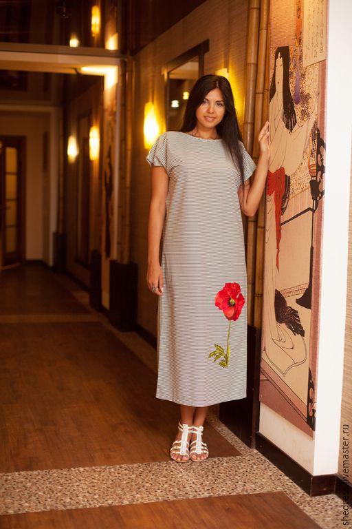 Купить Стильное платье арт.1112 - чёрно-белый 1018a8849f678