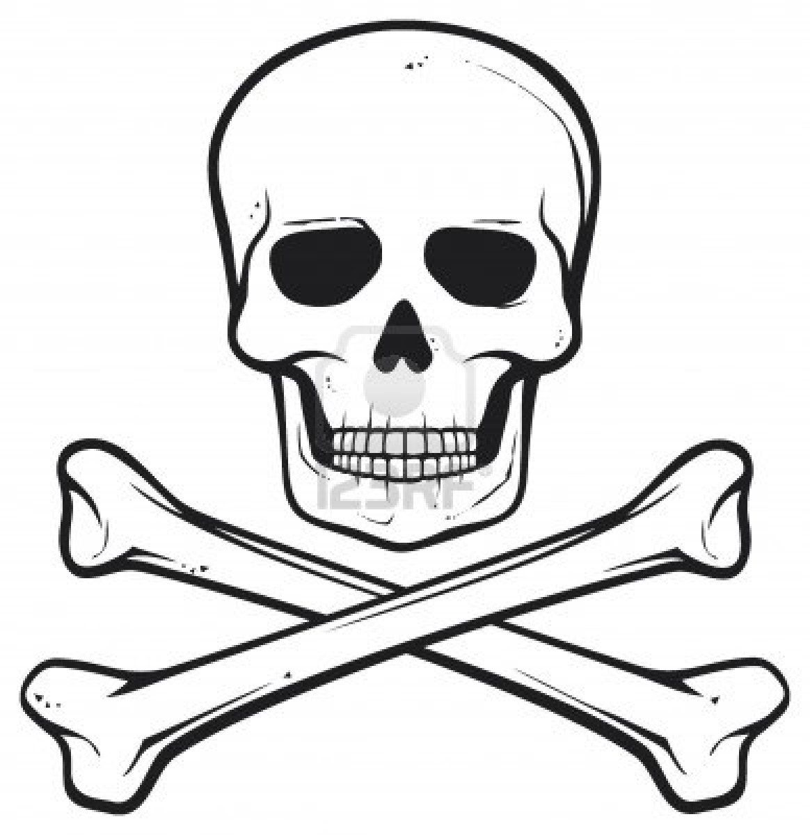 Skull And Bomnes Pirate Symbol Royalty Free Cliparts