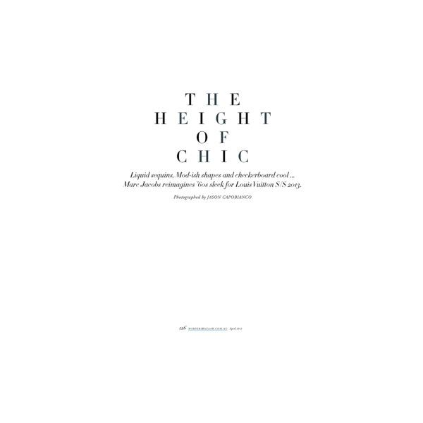 The Height of Chic at Harper's Bazaar Australia with Rose Smith lensed... ❤ liked on Polyvore