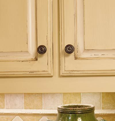 Butter Yellow And Antique White Rustic Distressed Look For Kitchen Cabinets 12sp