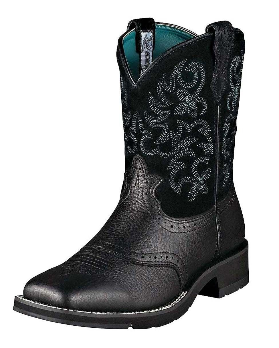 Ariat Women's Ranchbaby Square Toe Boot - Black Deertan | I like ...