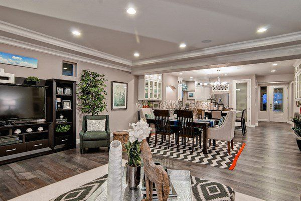 Grey Hardwood Floors Ideas Warm Gray Floor Modern Living