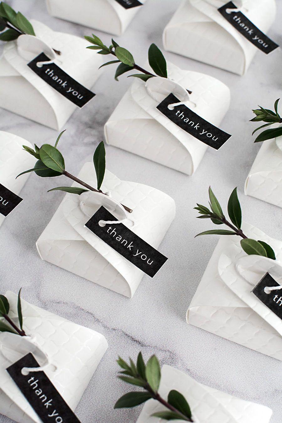 3 Simple and Modern DIY Wedding Favors | Packaging ideas, Modern diy ...