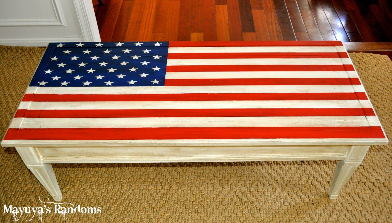 Mayuya's Randoms: American Flag Coffee Table