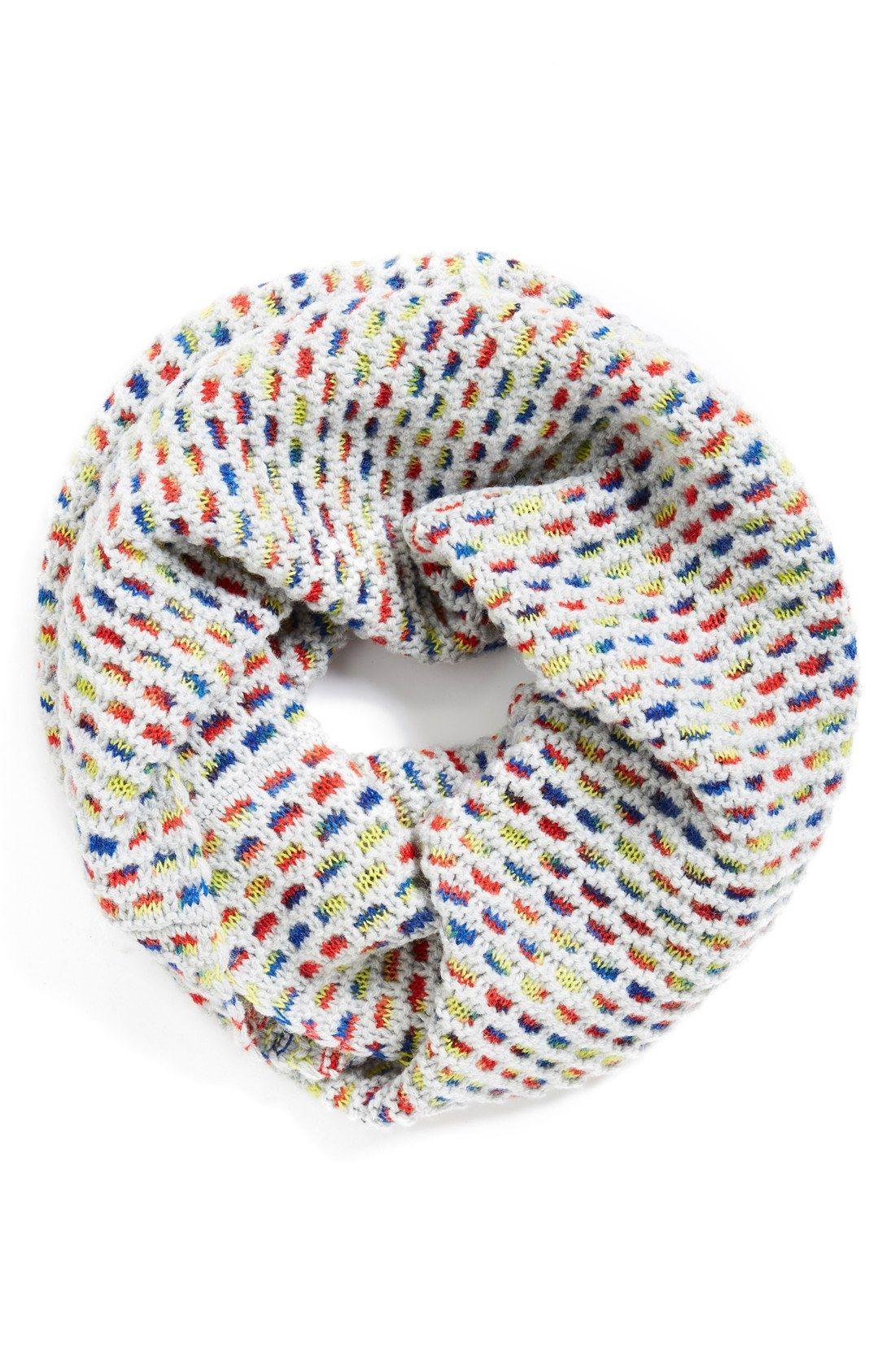 Echo Honeycomb Knit Infinity Scarf