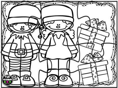 Puzzles de navidad para colorear imprimir, recortar plastificar y ...