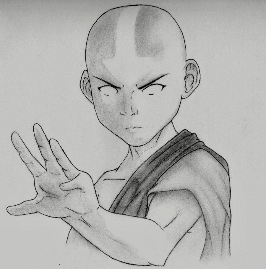 Avatar Aang In The Avatar State Desenhos A Lapis Pixar Desenhos