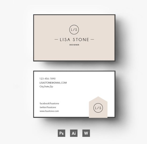 Creative Business card template by Emily\'s ART Boutique on Creative ...