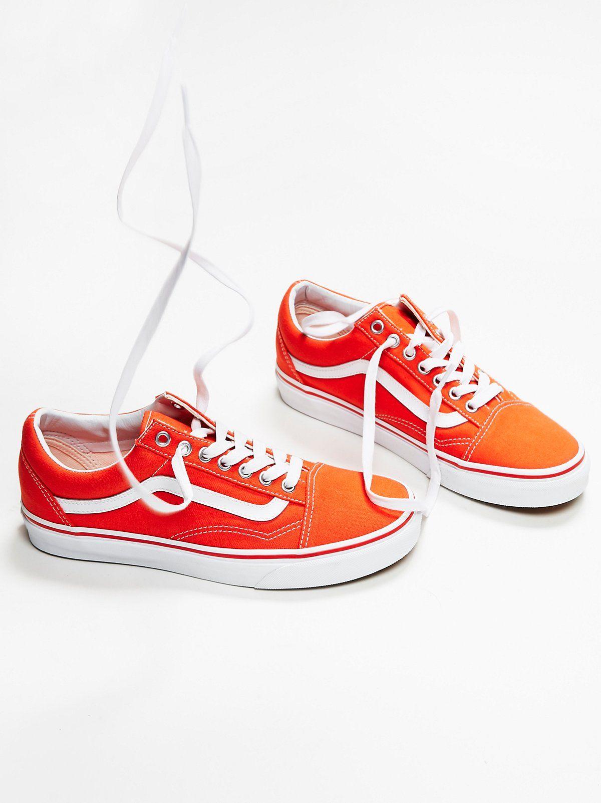 Old Skool Canvas Sneakers | Orange vans