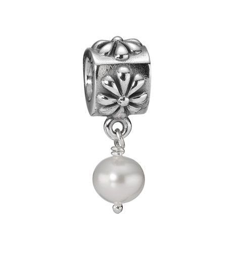 Pandora Pearl Flower Dangle