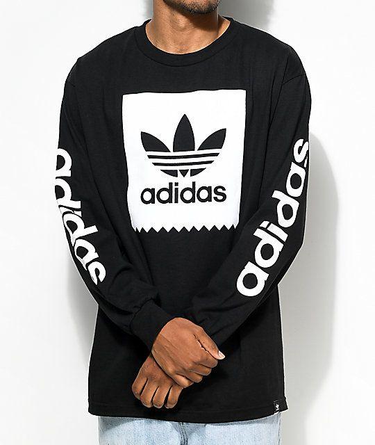 e48325099 t-shirt adidas adidas shirt adidas wear sporty black blackshirt black and  white tumblr tumblr shirt cool cool shirt pale japanese writing ...