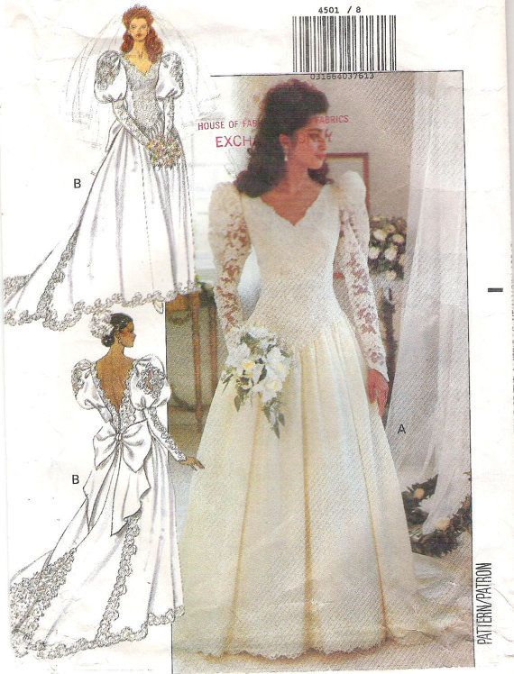 Longitud del piso vestido vintage de 1980 boda con por SewBasicShop ...