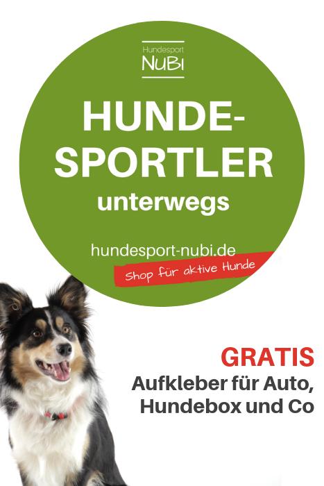 Gratis Aufkleber Hundesportler Unterwegs Welpen Alles